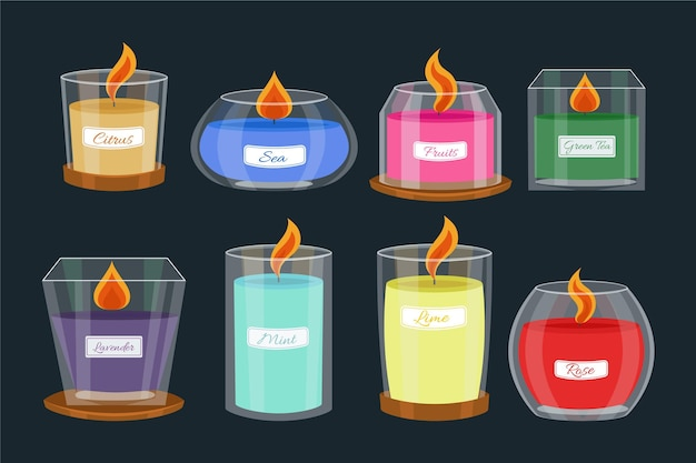 Flat scented candle pack