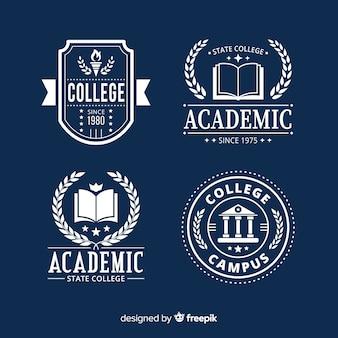 플랫 학교 로고 템플릿 컬렉션