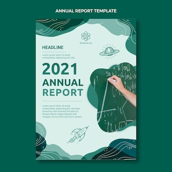 Flat science annual report template