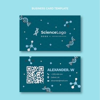 Плоская научная визитка горизонтальная