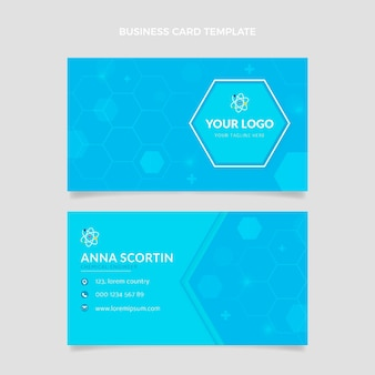 Flat science business card