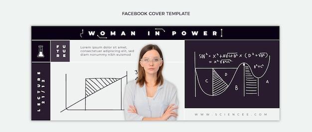 Copertina facebook di scienza piatta