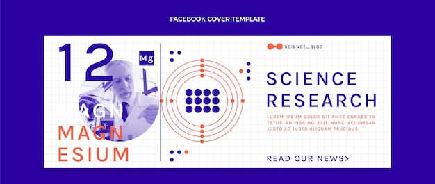 Flat science facebook cover