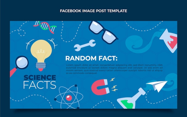 Плоский научный пост в фейсбуке