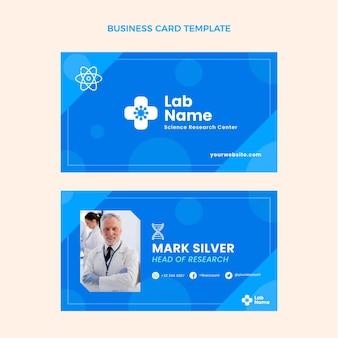Flat science horizontal business card
