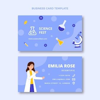 Flat sciencehorizontal business card