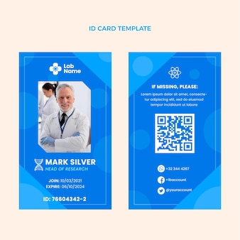 Flat science id card template