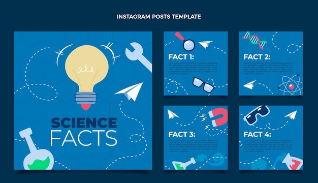 Flat science instagram post