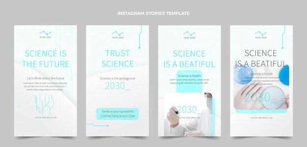 Flat science instagram stories