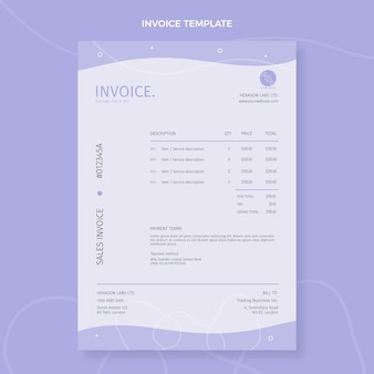 Flat science invoice template Free Vector