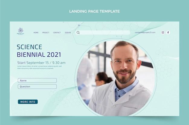 Modello di pagina di destinazione della scienza piatta