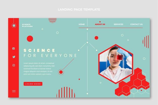 Плоская целевая страница науки