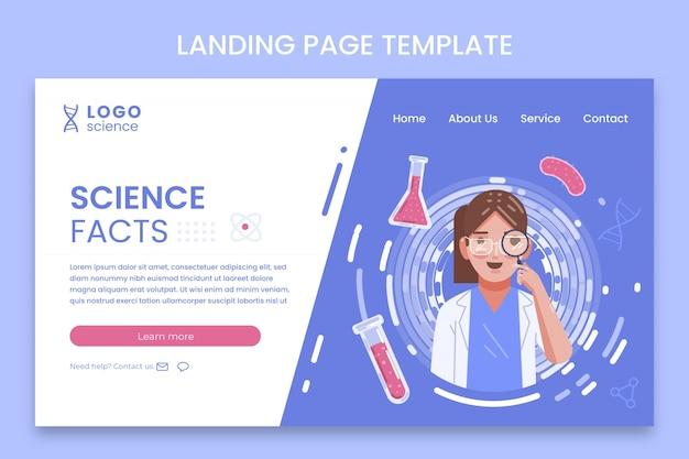 Flat science landing page