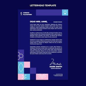 평면 과학 편지지 서식 파일