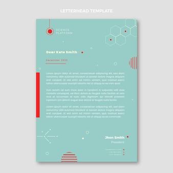 Carta intestata scientifica piatta