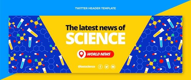 Flat science news twitter header