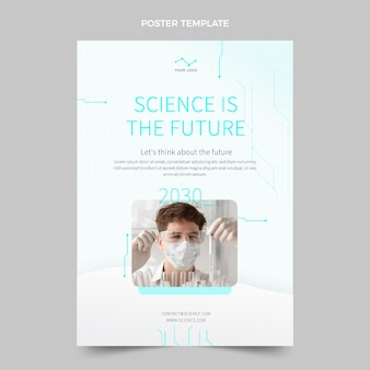 Flat science poster template