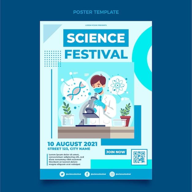 Poster di scienze piatto