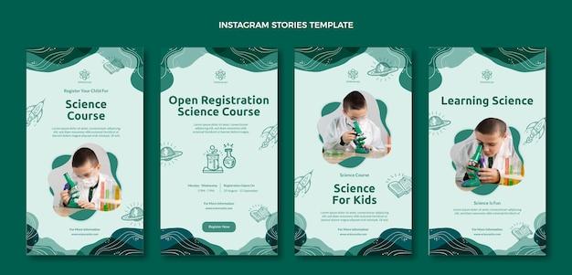 Flat science social media stories