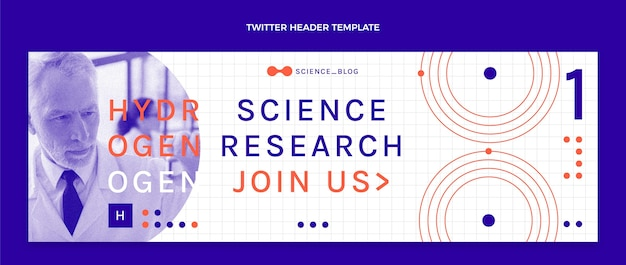 Flat science twitter header