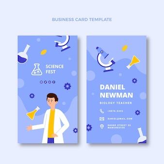 Flat sciencevertical business card