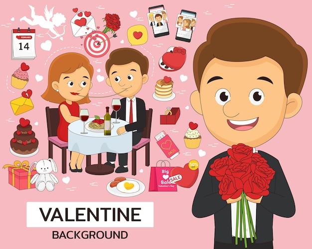 フラット シームレス テクスチャ パターン バレンタイン