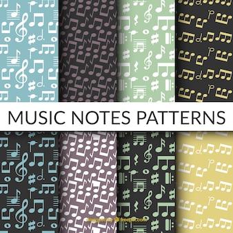 音符付き8パターンのフラットセレクション
