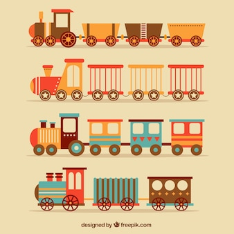 Flat selection of vintage trains