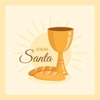 플랫 semana 산타 컨셉
