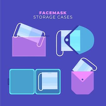 フェイスマスク収納ケースフラットセット