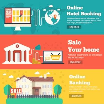 Flat set of social business travel