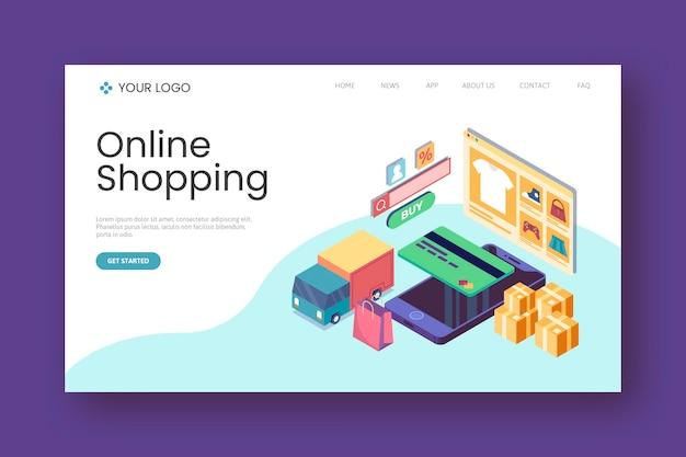 Flat shopping online landing page