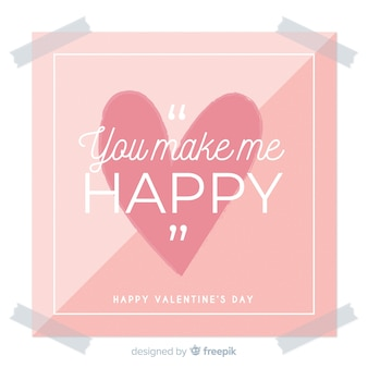 Flat sign valentine background