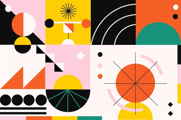 Flat simple geometric elements