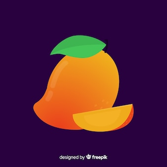 Flat simple orange mango background