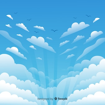 평평한 하늘 배경