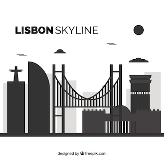 リスボンのフラットスカイライン
