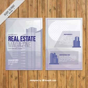 Шаблон журнала плоский небоскреб