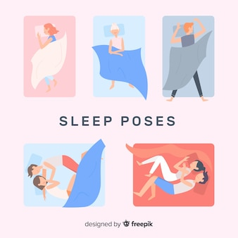 Flat sleep poses collection