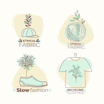 フラットスローファッションバッジコレクション