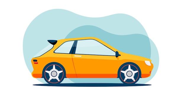 Flat small city car