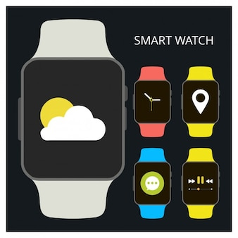 Flat smartwatch collection