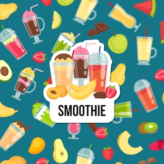 Flat smoothie background