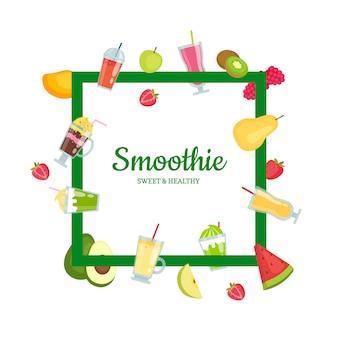 Flat smoothie elements frame
