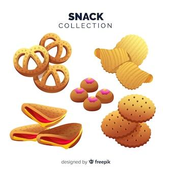Flat snack set