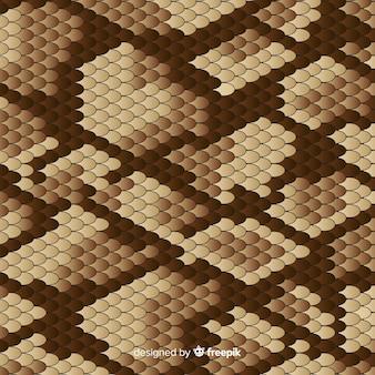 Flat snake skin background