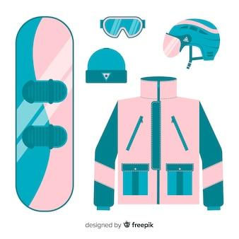 フラットスノーボード機器 無料ベクター