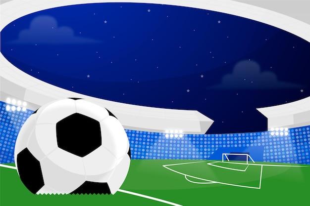 フラットサッカーサッカースタジアムのイラスト
