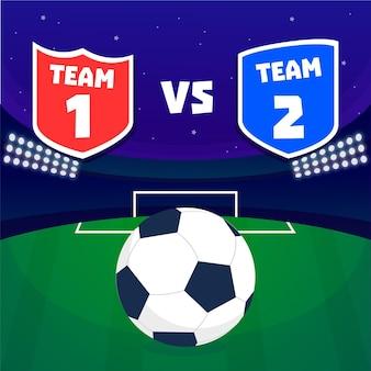Плоская иллюстрация финала футбольной лиги