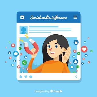 Flat social influencer